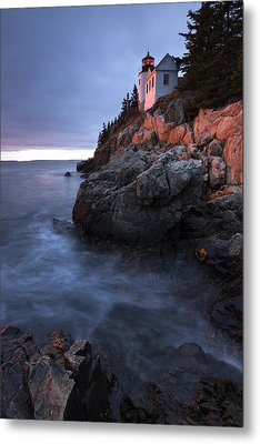 Metal Print featuring the photograph Last Light At Bass Harbor by Patrick Downey