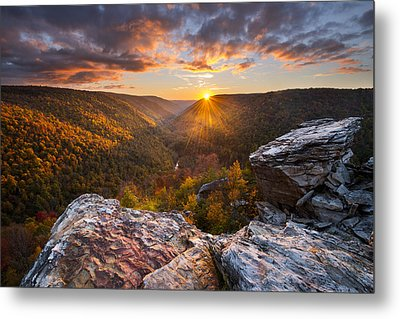 Last Light At Lindy Point Metal Print