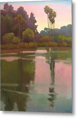 Metal Print featuring the painting Last Light At The Bird Sanctuary by Jennifer Boswell