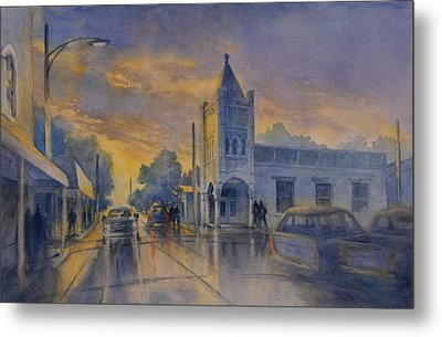 Last Light, High Street At Seventh Metal Print by Virgil Carter