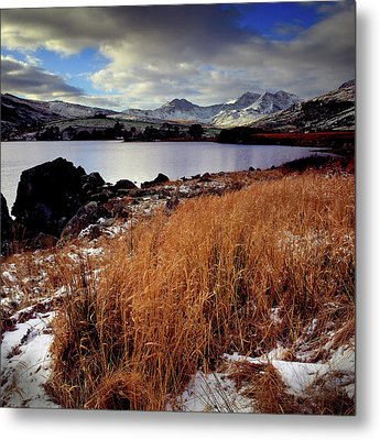 Last Light On Crib Goch Metal Print by Peter OReilly