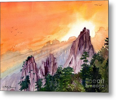 Morning Light On The Mountain Metal Print by Melly Terpening