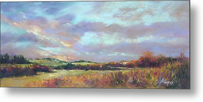 Last Light Over The Hills. France Metal Print by Rae Andrews
