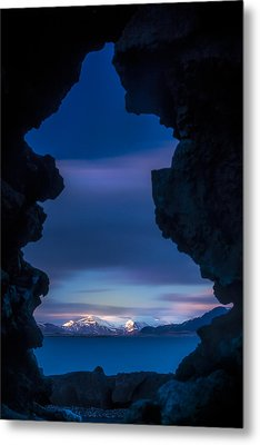 Last Light Through Lava Metal Print
