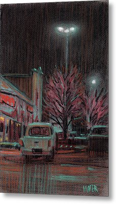 Last Minute Shopping Metal Print by Donald Maier