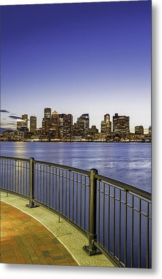 Metal Print featuring the photograph Last Night Sunset In Boston by Juergen Roth