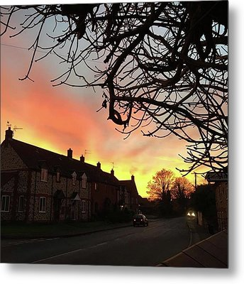 Last Night's Sunset From Our Cottage Metal Print by John Edwards
