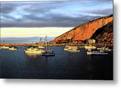Metal Print featuring the photograph Last Rays At The Bay by Nareeta Martin