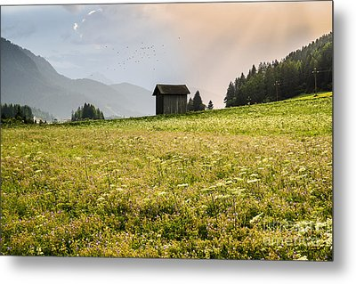 Metal Print featuring the photograph Last Rays On The Valley by Yuri Santin