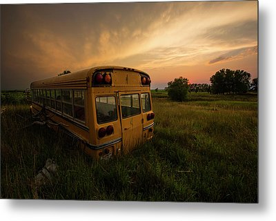Metal Print featuring the photograph Last Stop  by Aaron J Groen