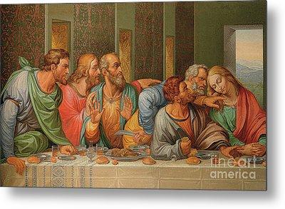 Last Supper Metal Print by Giacomo Raffaelli