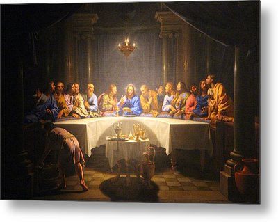 Last Supper Meeting Metal Print by Munir Alawi