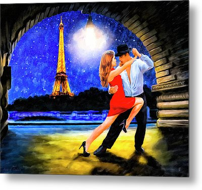 Metal Print featuring the mixed media Last Tango In Paris by Mark Tisdale