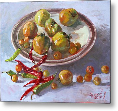 Last Tomatoes From My Garden Metal Print