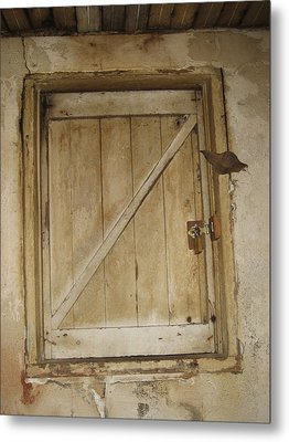 Latched Metal Print by Sheryl Burns