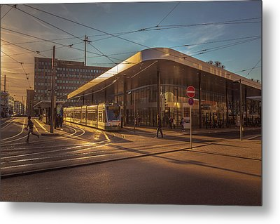Late Afternoon At The Transport Hub Metal Print by Chris Fletcher