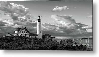 Late Afternoon Clouds, Portland Head Light  -98461 Metal Print