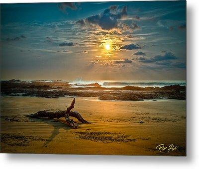 Metal Print featuring the photograph Late Afternoon Costa Rican Beach Scene by Rikk Flohr