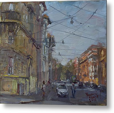 Late Afternoon Light - Regina Margherita -rome Metal Print by Ylli Haruni