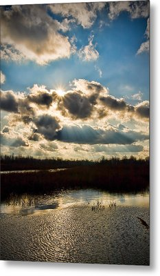 Late Evening By The River Metal Print by Michel Filion