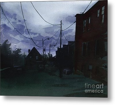 Metal Print featuring the painting Late Evening by Sergey Zhiboedov