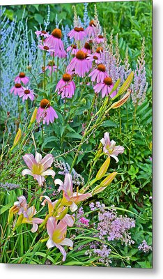 Late July Garden 3 Metal Print by Janis Nussbaum Senungetuk