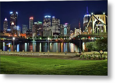 Late Night Along The River Metal Print