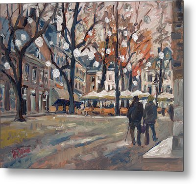 Late November At The Our Lady Square Maastricht Metal Print by Nop Briex