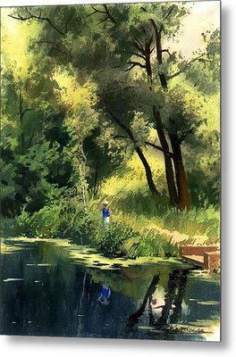 Metal Print featuring the painting Late Summer by Sergey Zhiboedov