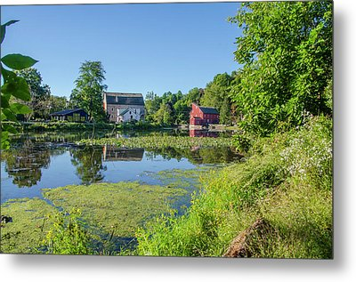 Late Summer - The Red Mill  On The Raritan River - Clinton New J Metal Print by Bill Cannon