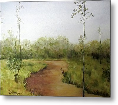 Metal Print featuring the painting Late Summer Walk by Roseann Gilmore