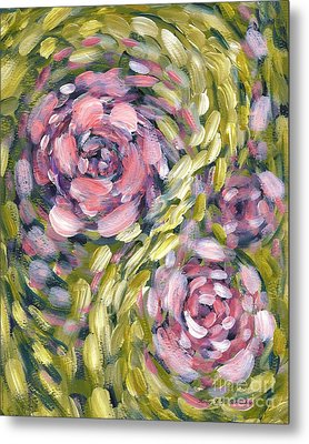 Metal Print featuring the digital art Late Summer Whirl by Holly Carmichael