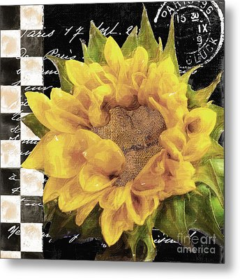 Late Summer Yellow Sunflowers II Metal Print by Mindy Sommers
