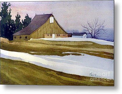 Late Winter Melt Metal Print by Donald Maier
