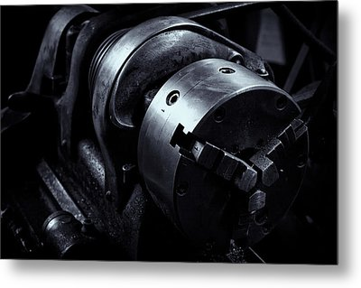Metal Print featuring the photograph Lathe by Tom Singleton