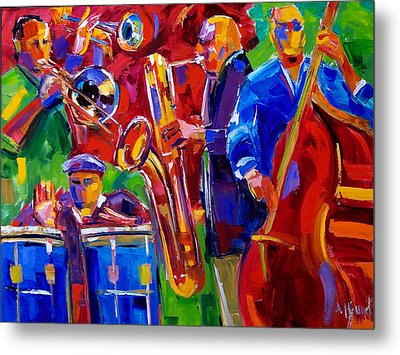 Latin Music Metal Print by Debra Hurd