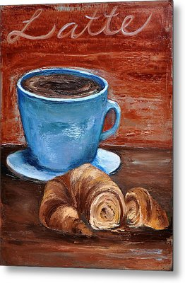 Metal Print featuring the painting Latte by Lindsay Frost