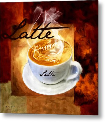 Latte Metal Print by Lourry Legarde