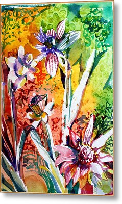 Laughing Flowers Metal Print by Mindy Newman