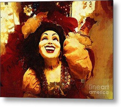 Laughing Gypsy Metal Print by Deborah MacQuarrie-Selib