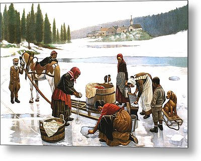 Laundry Day Metal Print by Curtis James