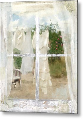 Laundry Day Metal Print by Mindy Sommers
