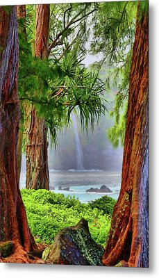 Metal Print featuring the photograph Laupahoehoe Hawaii by DJ Florek