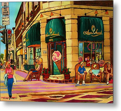Laura Secord Candy And Cone Shop Metal Print by Carole Spandau