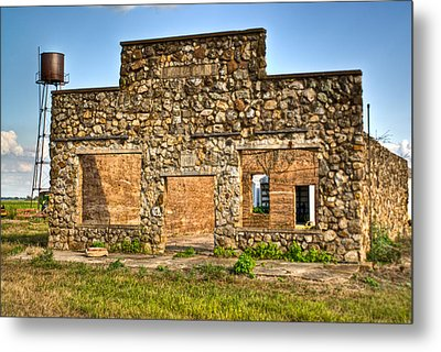 Laura Town Ghost Town In Arkansas  Metal Print by Douglas Barnett