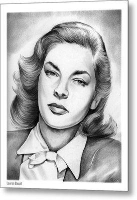 Lauren Bacall Metal Print by Greg Joens
