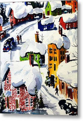 Laurentian Snows Metal Print
