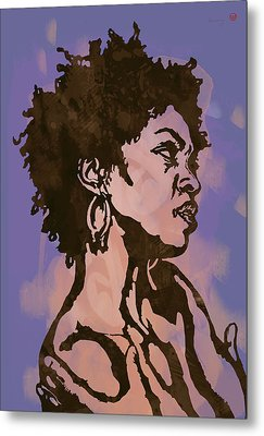 Lauryn Hill Pop Stylised Art Sketch Poster Metal Print by Kim Wang