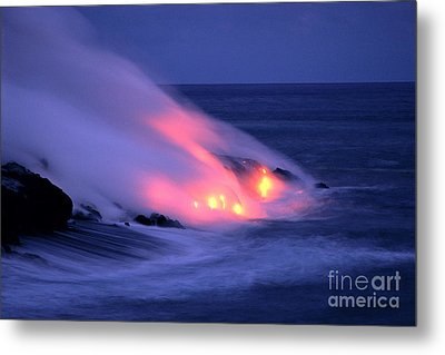 Lava And Pink Smoke Metal Print by William Waterfall - Printscapes