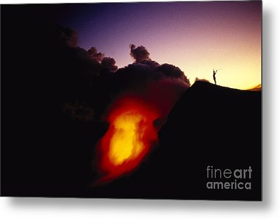 Lava At Dawn Metal Print by Ron Dahlquist - Printscapes